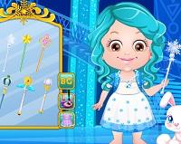 Vestir a Baby Hazel de Frozen