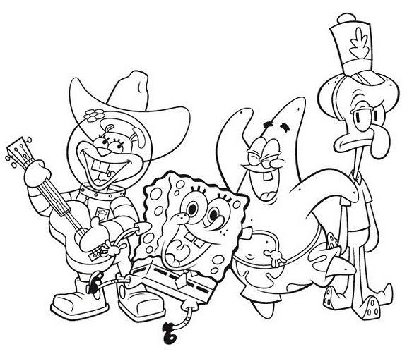 Dibujos De Bob Esponja Para Colorear Cokitos