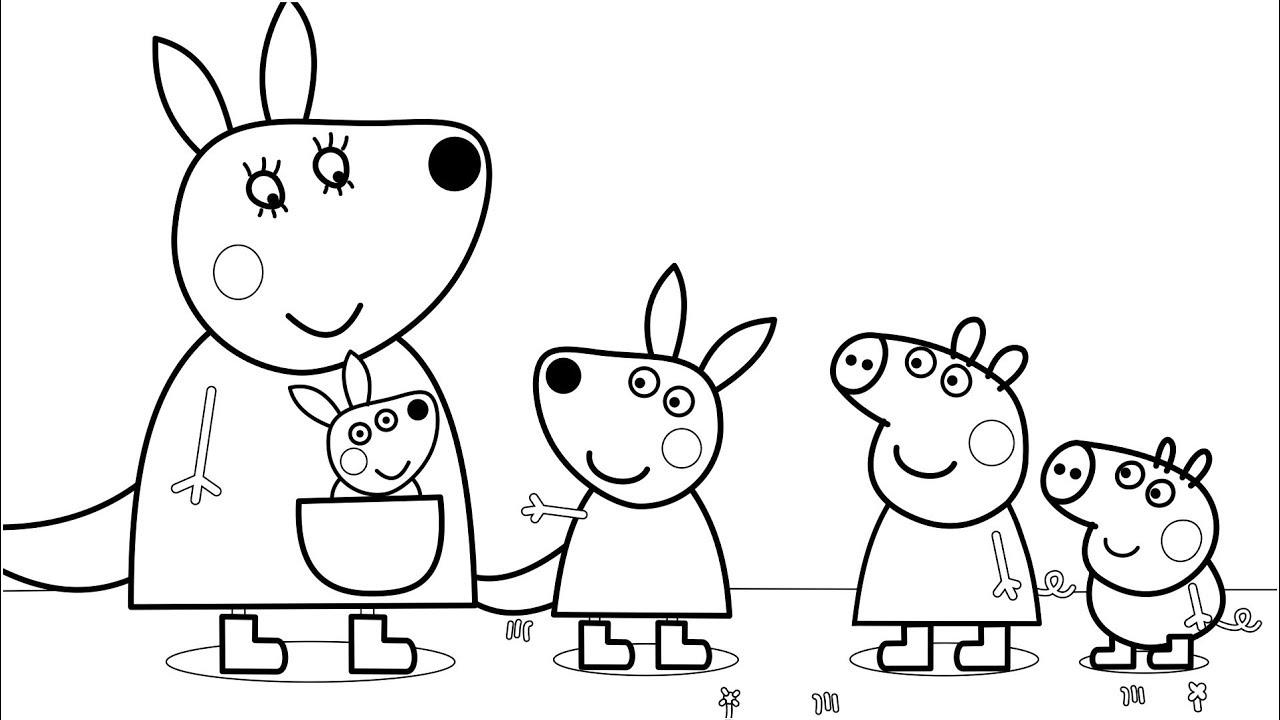 Dibujos De Peppa Pig Para Colorear Juegos Cokitos
