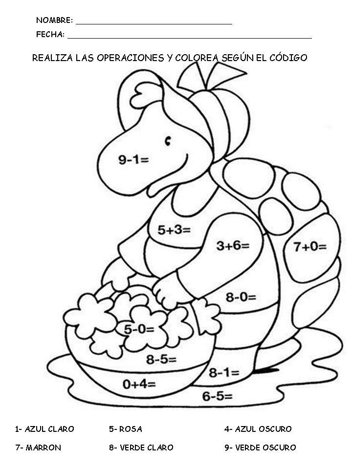 Dibujos De Sumas Para Colorear Cokitos