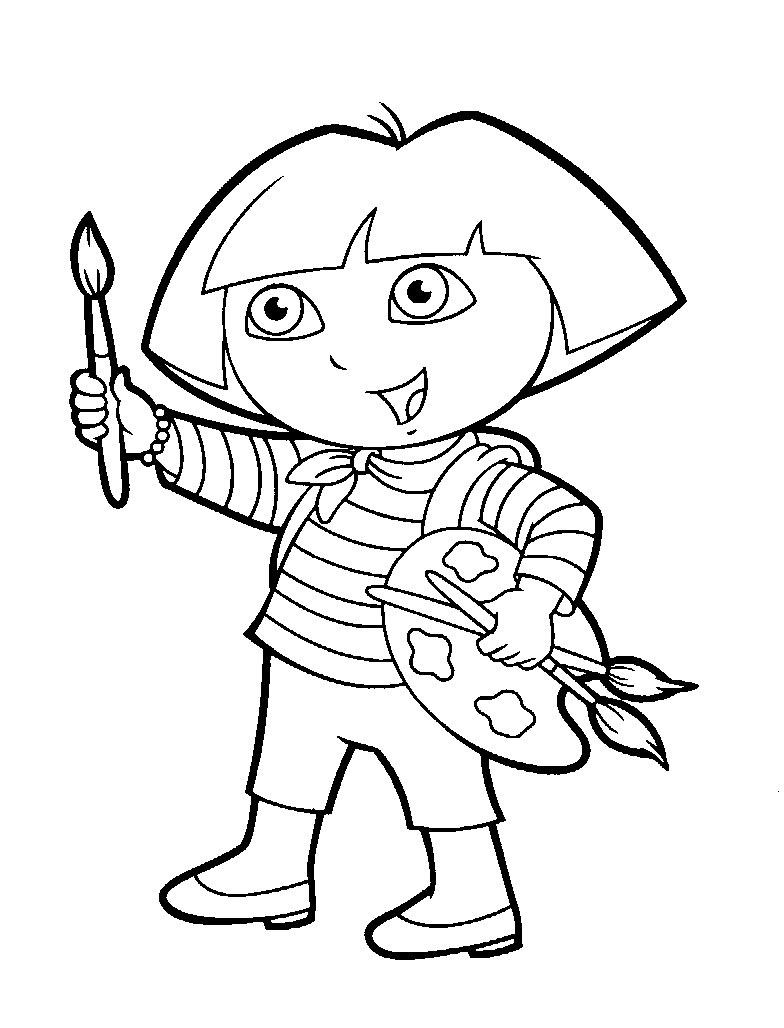 Dibujos De Dora Para Colorear Cokitos