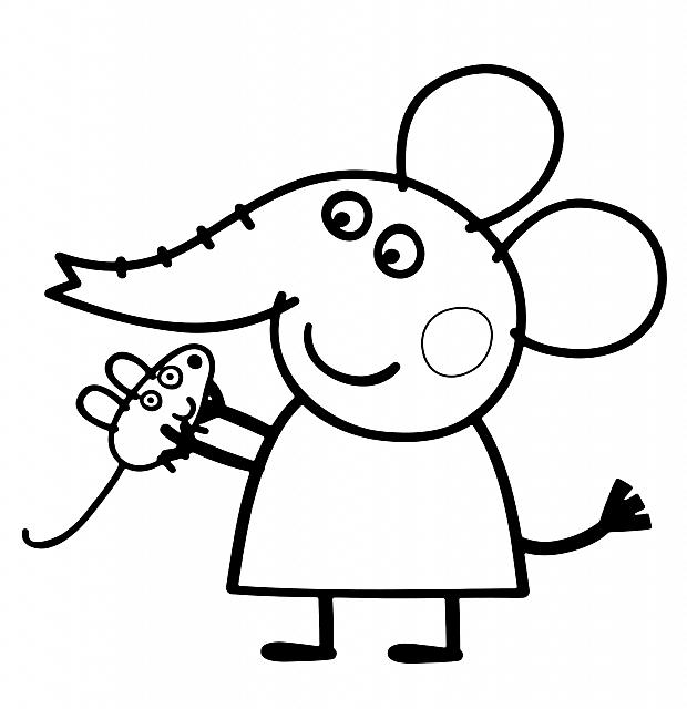 Dibujos De Peppa Pig Para Colorear Cokitos