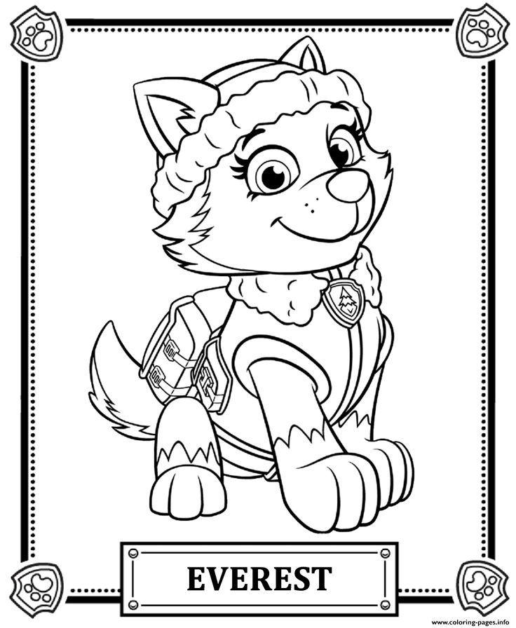Dibujos De La Patrulla Canina Para Colorear Cokitos