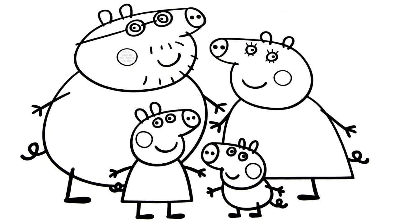 coloring book pages of families - photo#44