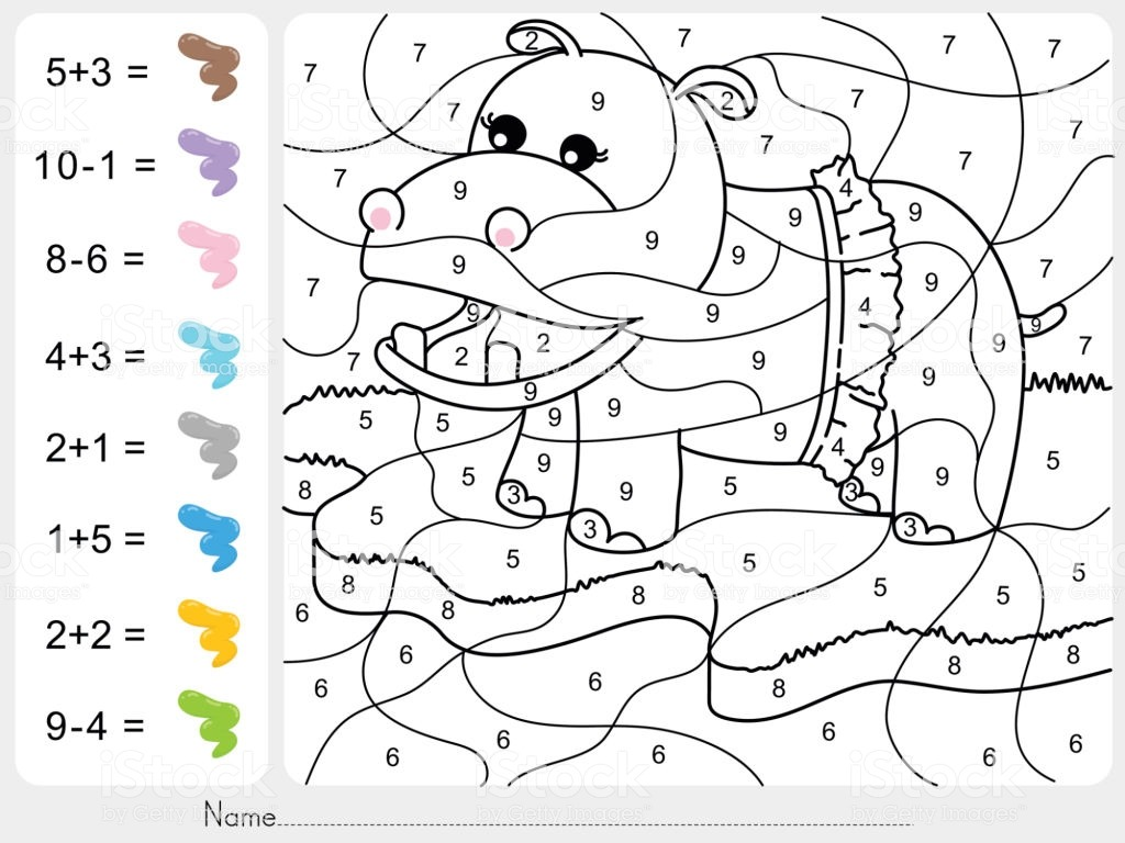 Dibujos De Sumas Para Colorear Juegos Cokitos