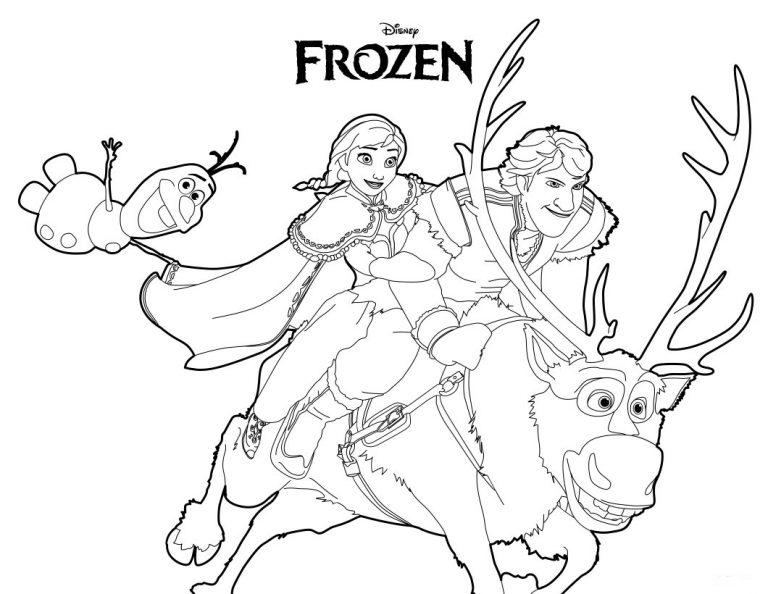 Dibujos De Frozen Para Colorear Cokitos