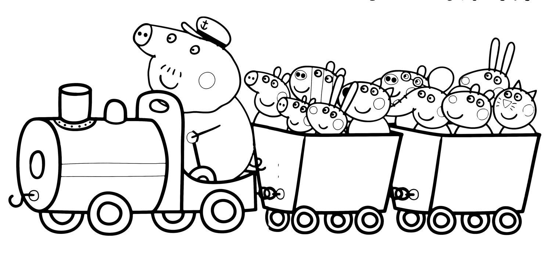 Dibujos Para Colorear: Dibujos De Peppa Pig Para Colorear
