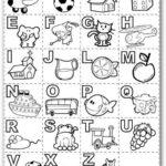 Dibujos del abecedario para colorear