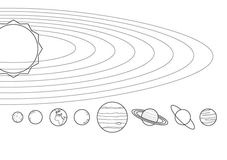 Juegos De Colorear Frozen En Linea Biblioteca De: Dibujos De Planetas Del Sistema Solar Para Colorear