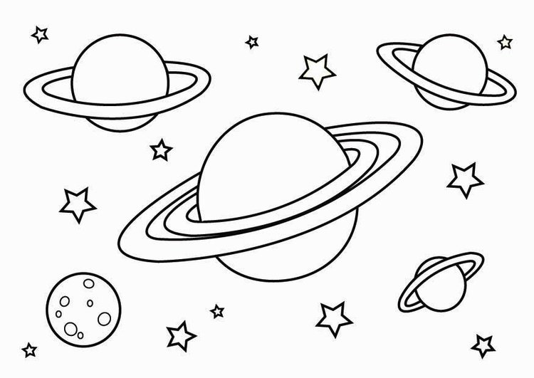 Dibujos De Planetas Del Sistema Solar Para Colorear Juegos Gratis
