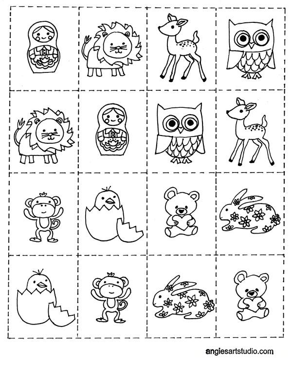 Memoramas de Animales para Colorear   Juegos Gratis Online