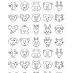 Memoramas de Animales para Colorear