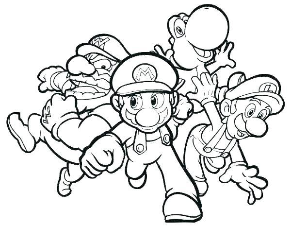 Dibujos De Mario Bros Para Colorear Juegos Gratis Online