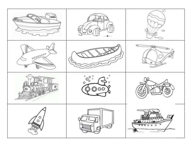 Medios De Transporte Para Colorear Juegos Gratis Online Cokitos