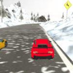 Simulador de Carrera de Coches en la Nieve