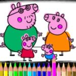 Colorear a Peppa y George