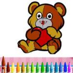 Colorear Animales en San Valentín