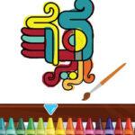 Colorear Símbolos Aztecas