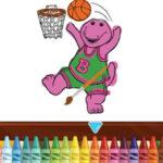 Colorear a Barney