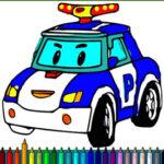 Colorear Coches de Policía
