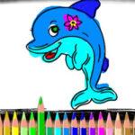 Colorear Delfines online