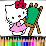 Colorear a Hello Kitty Online