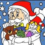 Colorear a Papa Noel