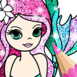 Colorear Sirenas con Glitter