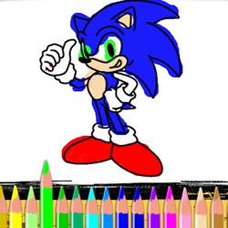 Colorear a Sonic