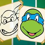 Colorear a las Tortugas Ninja
