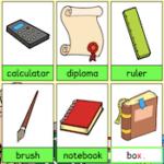 Deletrear en Inglés: material escolar