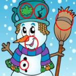 Buscar Diferencias en los Muñecos de Nieve
