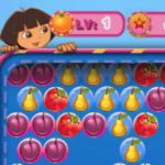 Dora explota burbujas de frutas