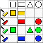 Matriz Lógica: Formas y Colores
