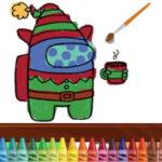 Among Us para pintar Online en Navidad