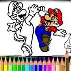 Pintar a Mario y sus amigos