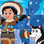 Puzzle de Girar Piezas en Invierno