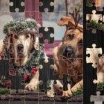 Rompecabezas de Perros Navideños