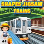 Puzzles de Formas con Trenes