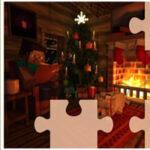 Rompecabezas de Minecraft en Navidad