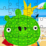 Puzzles Pop-It con Angry Birds