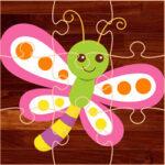 Puzzles de Dibujos de Mariposas para niños