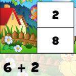 Sumas hasta 10: Puzzles Rompecabezas