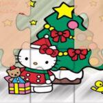 Rompecabezas de Hello Kitty en Navidad