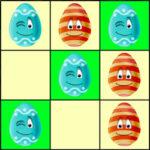 Tres en Raya con Huevos de Pascua