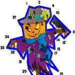 Unir Puntos de Números en Halloween