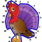 Unir puntos con números Acción de Gracias