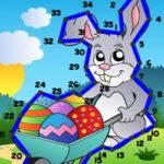 Unir Puntos con Números en Pascua