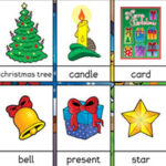 Tarjetas de Vocabulario en inglés de Navidad